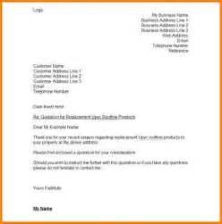 Letter For Insurance Quotation Quote Cover Letter Exles