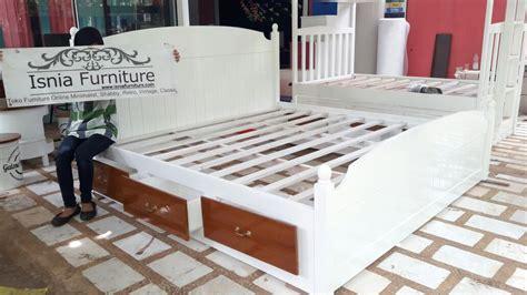 Jual Lu Tidur Kayu jual tempat tidur laci model terbaru kayu jati desain pas