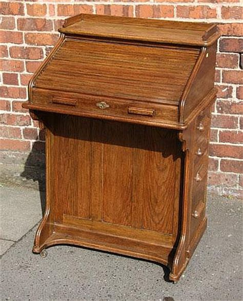 A Small Oak Roll Top Desk By The Lebus Company Small Roll Top Desk Oak