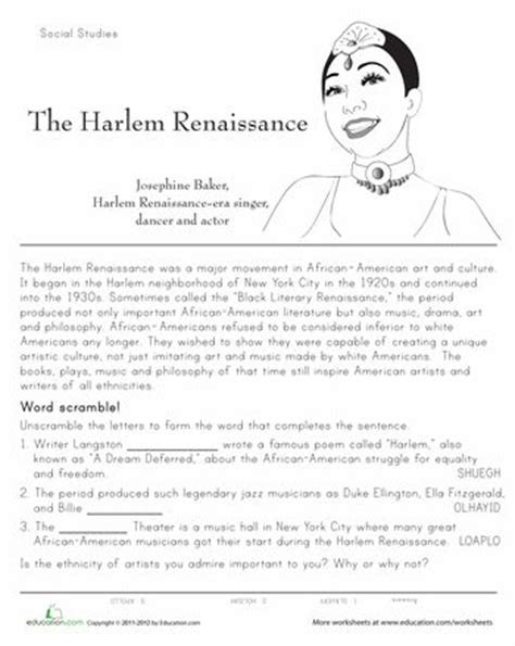 The Renaissance Worksheet Answers by 1000 Images About Harlem Renaissance On
