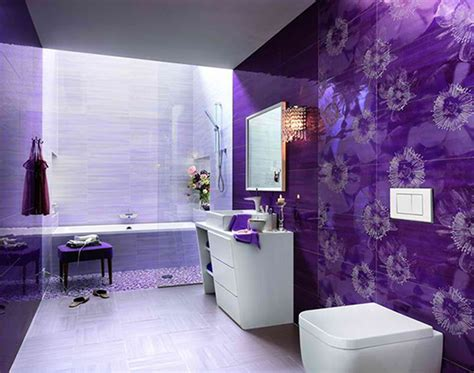 Purple Interior Design Sharp Ultramodern Purple Bathrooms New Interior Design Ideas Decobizz