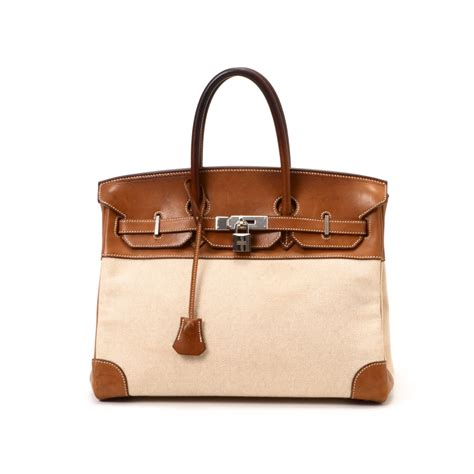 Hermes Birkin Canvas 1 buy beige fauve canvas and leather herm 232 s handbag at lxr co