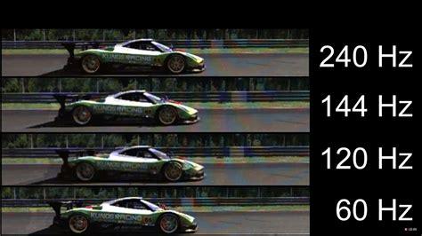 60 hz to s motion 240hz vs 144hz vs 120hz vs 60hz monitor