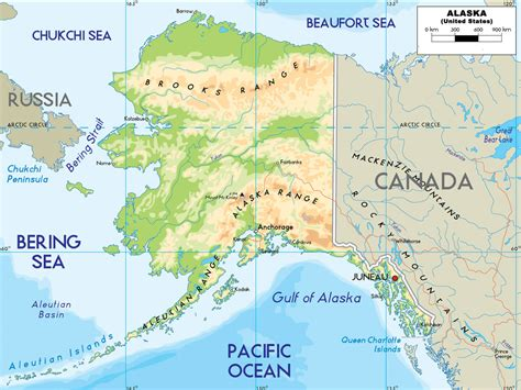 road map alaska usa alaska map