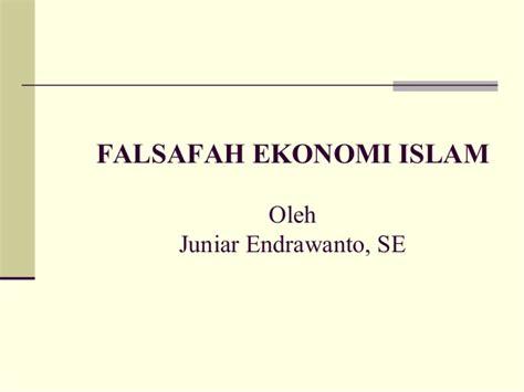 Ekonomi Islam 2 konsep dasar ekonomi islam