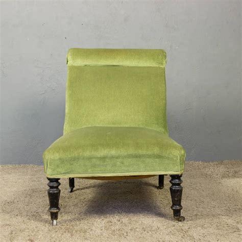 green slipper chair napoleon iii slipper chair in green velvet for sale at 1stdibs