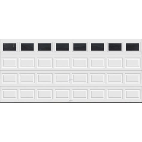 Clopay Premium Series 16 Ft X 7 Ft 12 9 R Value Clopay Garage Door Sizes