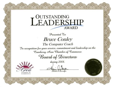 certificate design for leadership leadership award certificate sle image collections