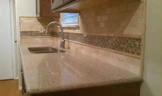 Kitchen Travertine Backsplash Kitchen Backsplash Travertine Subway Glass Mosaic Traditional By Custom Surface