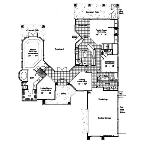 Adobe Style Home Plans by Adobe House Plans With Courtyard South West House Plans