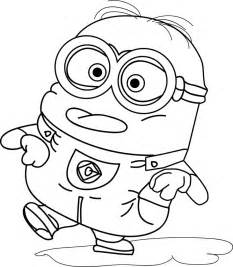 Minion coloring pages cartoons printable coloring