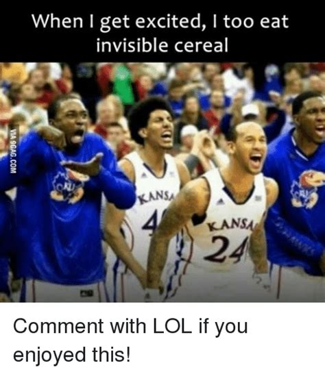 Invisible Cereal Meme - when i get excited i too eat invisible cereal kans comment