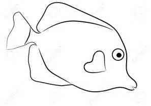 Fish Outline by Tropical Fish Outline Clipart Cliparts And Others Inspiration