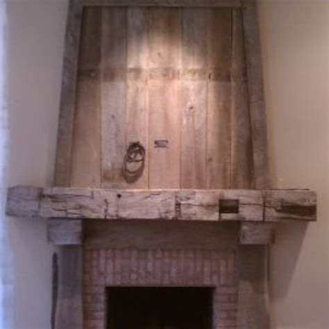 barnwood mantel for the home