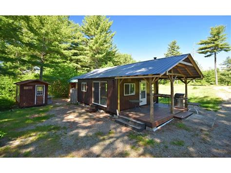 maine lakefront cabin for sale in burlington land
