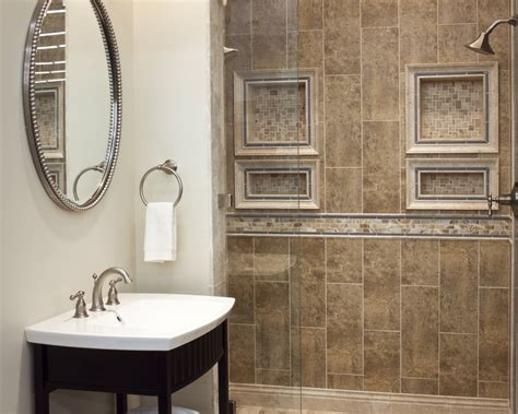 Bathroom Tile Trim Ideas | imperial beige ceramic wall tile shower tile trim ideas