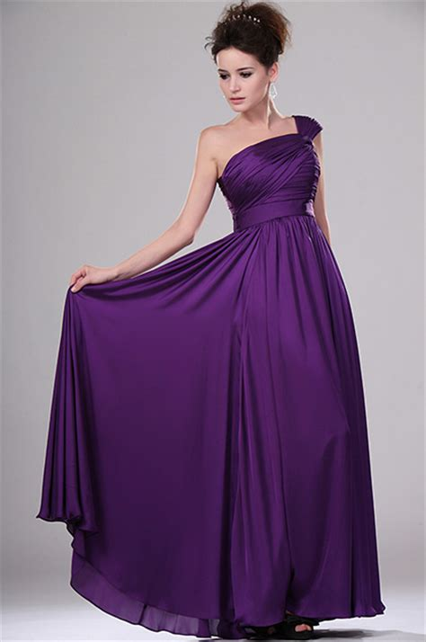 edressit simple elegant purple evening dress