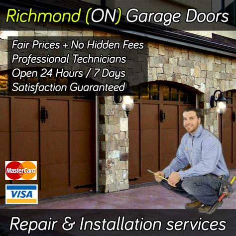 Garage Door Repair Richmond Ca by Garage Doors Richmond Ontario 24hr Repair Installation
