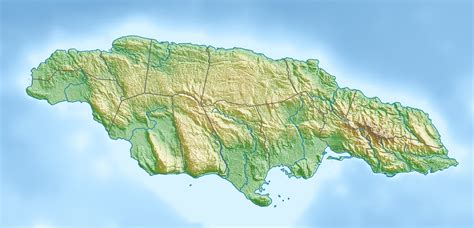 physical map of jamaica file jamaica relief location map jpg