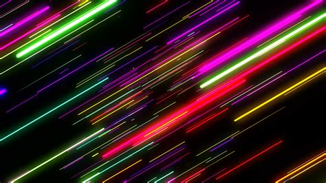 vj neon lights colorful laser fly through motion