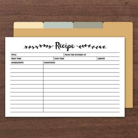 fillable recipe card template printable editable recipe cards comes with front and back along with dividers printables