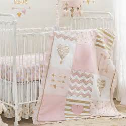 pink and gold baby bedding lambs ivy baby love pink gold heart 4 piece crib bedding