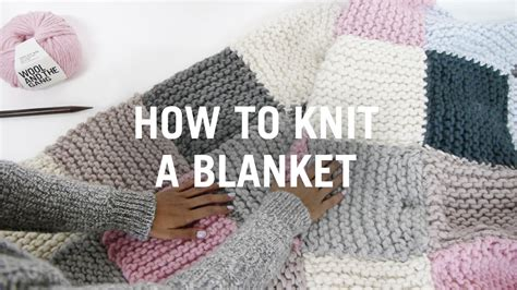 how to knit a square in the how to knit a blanket step by step