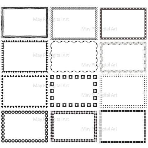 business card frame template business card border clipart