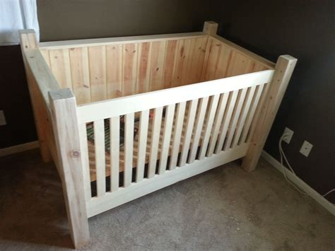 diy wood crib this is another option if doing all tree