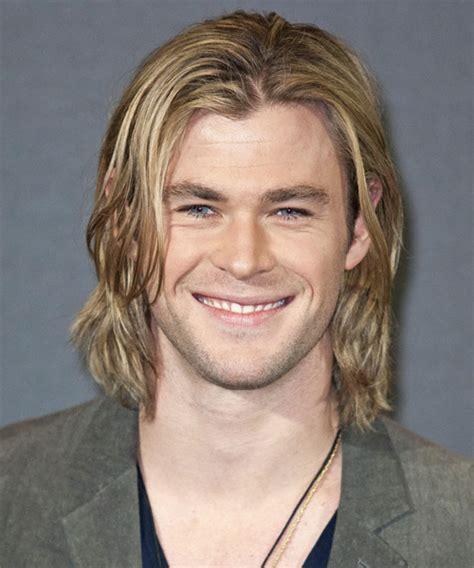 Chris Hemsworth Long Straight Casual Hairstyle   Medium Blonde