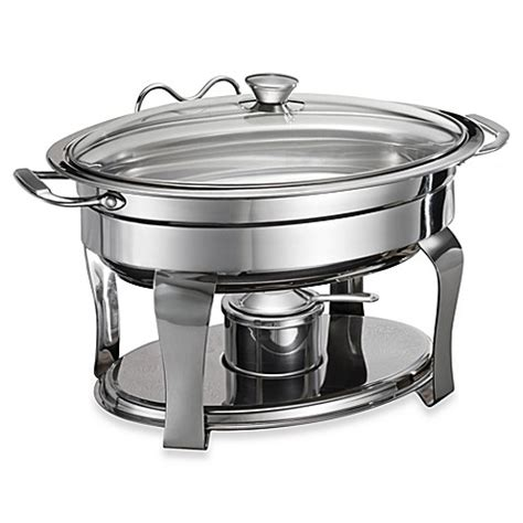 Buy Tramontina 174 Stainless Steel 4 2 Quart Oval Chafing Dish From Bed