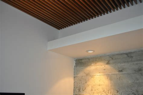 Ceiling Cement by Wood Grille Ceiling Concrete Wall Detail