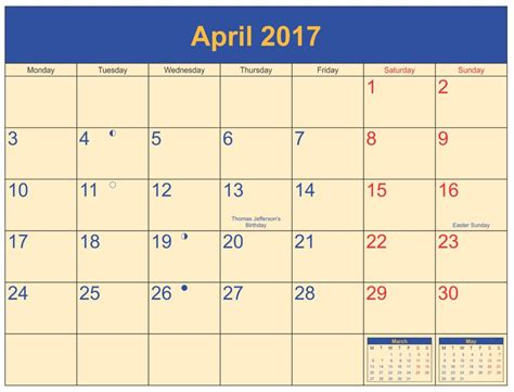 Calendars With April 2017 Printable Calendar Templates Free Printable