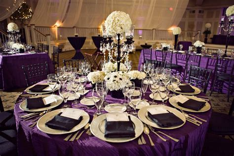 Black And Purple Wedding Reception   Romantic Royal Purple