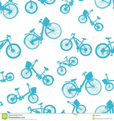 pattern for riding stock seamless blue bicycle bike vector stock vector