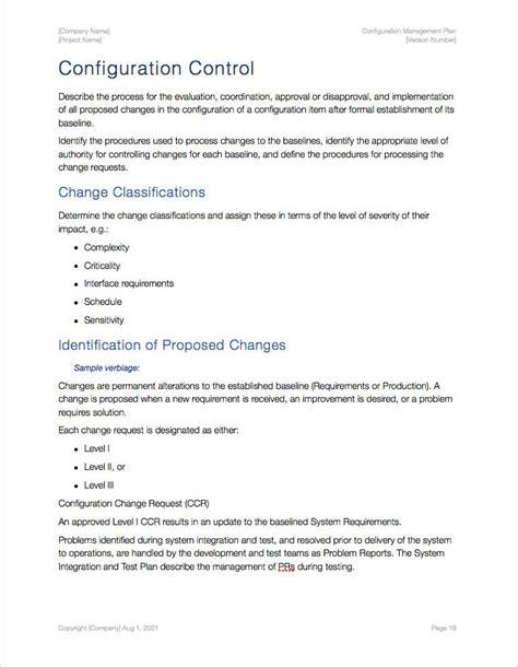 configuration management plan template 6 alpha case study