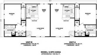 Manufactured Duplex Floor Plans Floor Plan U Dpx 2466a Duplex Series Durango Homes
