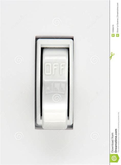 house electric light switch in position stock image