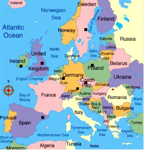 europe map today ezonaf map of europe today