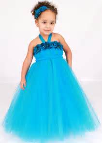 flower tutu dress turquoise topaz by cutiepatootiedesignz
