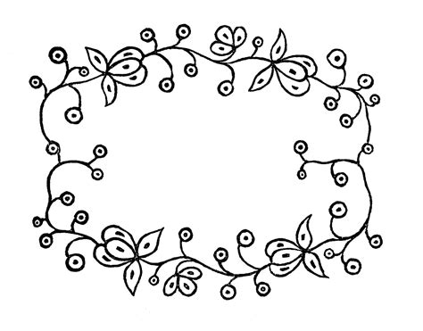 pattern frame drawing royalty free images embroidery patterns floral frames