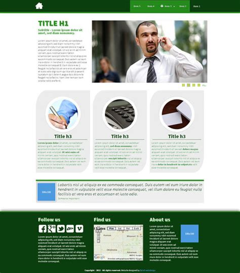 html5 template business top html5 web templates 40 free exles