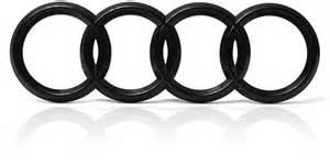 audi ringe heck a1 a2 a3 a4 a5 a6 a8 schwarz emblem logo