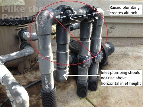 Plumbing Air Lock pool not priming it might be air lock