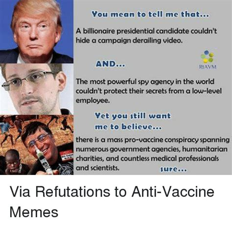 Anti Vaccine Meme - 25 best memes about refuted refuted memes