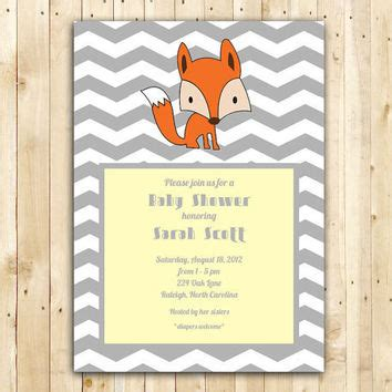 Best Baby Fox Baby Shower Invitations Products On Wanelo Fox Baby Shower Invitation Template