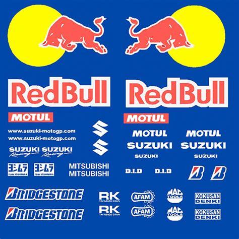Aufkleber Red Bull Racing by Suzuki Gsx R 600 Redbull Race Decal Kit R S Gsxr Rb