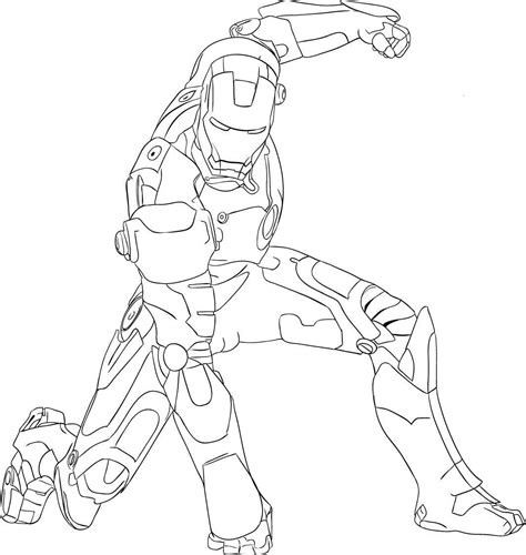 easy iron man coloring page drawing iron man child coloring