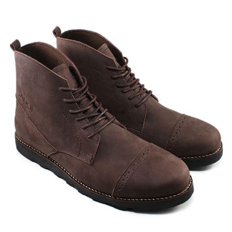 Sepatu Sauqi Brodo Boots Pria 2 Warna Kulit Sli Original Handamde Sepatu Pria Sauqi Kopp Kulit Sapi Asli 2 Warna Coklat Dan
