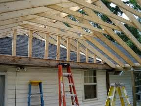 Framing A Patio by How To Build A Gable Porch Roof Roof Porch Roofs